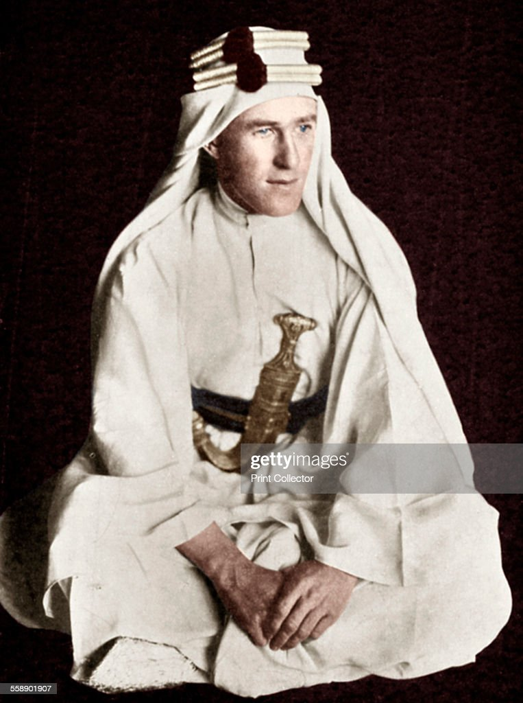 Lawrence of Arabia, early 20th century.  Artist: Unknown. : News Photo