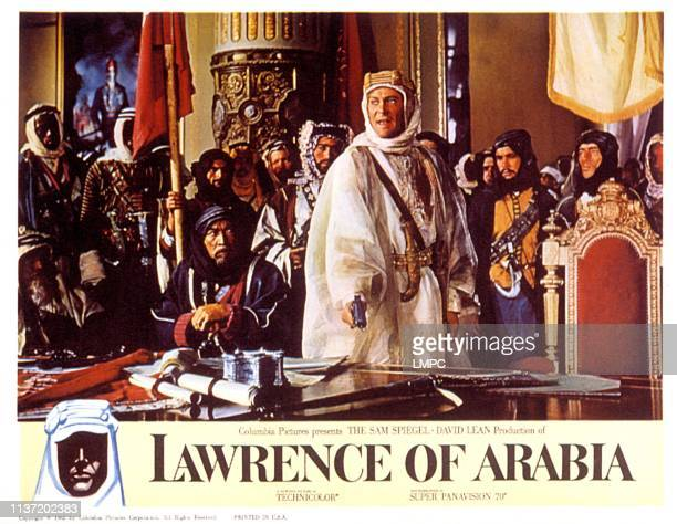Lawrence Of Arabia lobbycard Anthony Quinn Peter O'Toole 1962