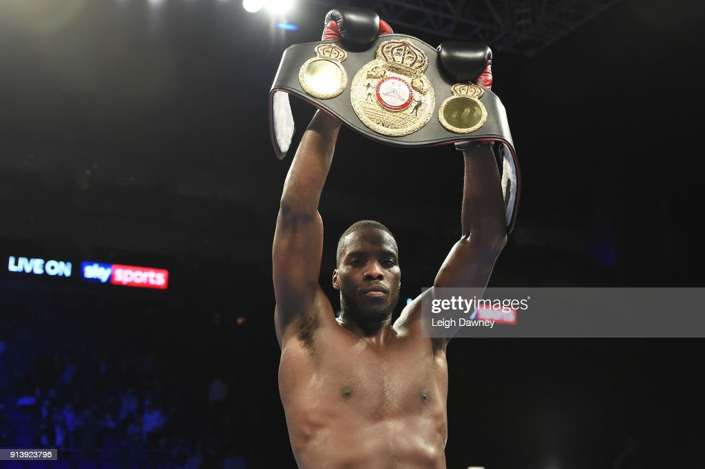 Lawrence Okolie defeats Issac Chamberlain for the vacant WBA Continental Cruiserweight title at The O2 Arena on February 3, 2018 in London, England.
