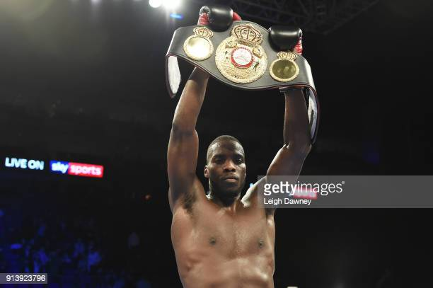 Lawrence Okolie defeats Issac Chamberlain for the vacant WBA Continental Cruiserweight title at The O2 Arena on February 3 2018 in London England