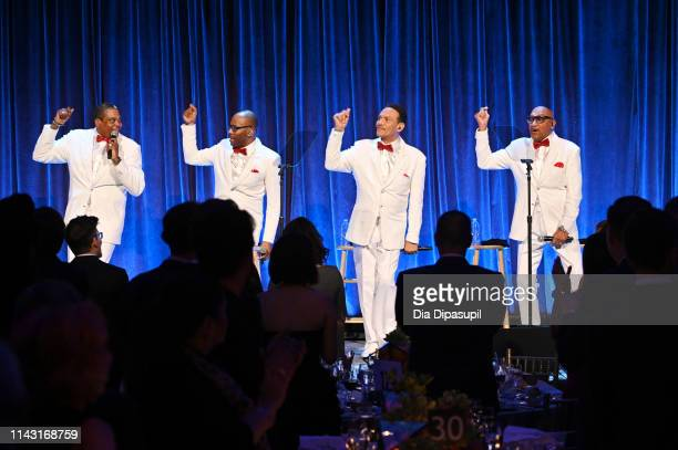 "Lawrence Payton Alex Morris Lewis McNeir and Abdul ""Duke"" Fakir perform onstage at the Food Bank For New York City CanDo Awards Dinner at Cipriani..."