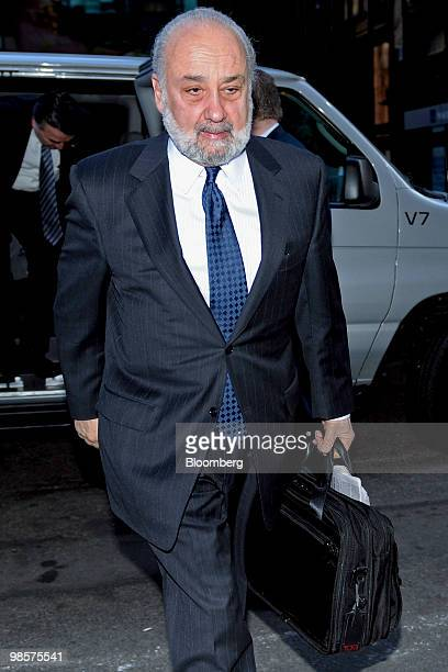 Lawrence Ricciardi senior advisor for Lazard Freeres Co and a member of the board of Citigroup Inc arrives for Citigroup's annual shareholders...