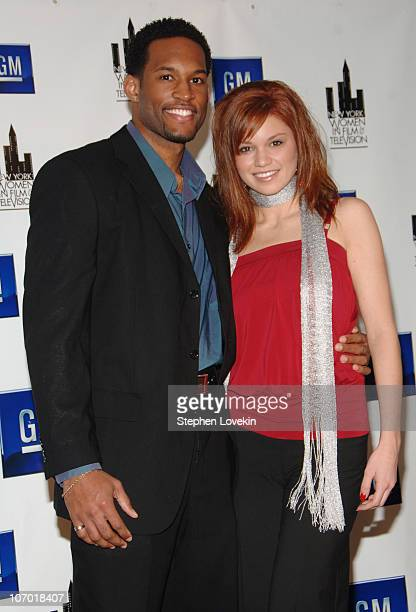 Lawrence SaintVictor and Mandy Bruno during New York Women in Film and Television's 26th Annual Muse Awards for Outstanding Vision Achievement at...
