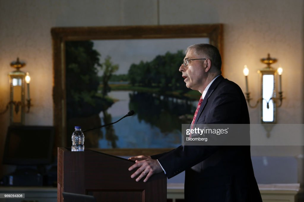 Lawrence Schembri, deputy governor of the Bank of Canada, speaks to the CFA Society Ottawa and Ottawa Economics Association at the Rideau Club in Ottawa, Ontario, Canada on Wednesday, May 16, 2018. Schembri said the current economic expansion is helping to repair damage caused by the last recession on the nations productive capacity. Photographer: David Kawai/Bloomberg via Getty Images