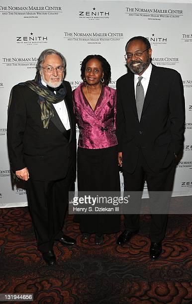 Lawrence Schiller Brenda Greene and Richard Jones attend the 3rd Annual Norman Mailer Center Gala at the Mandarin Oriental Hotel on November 8 2011...