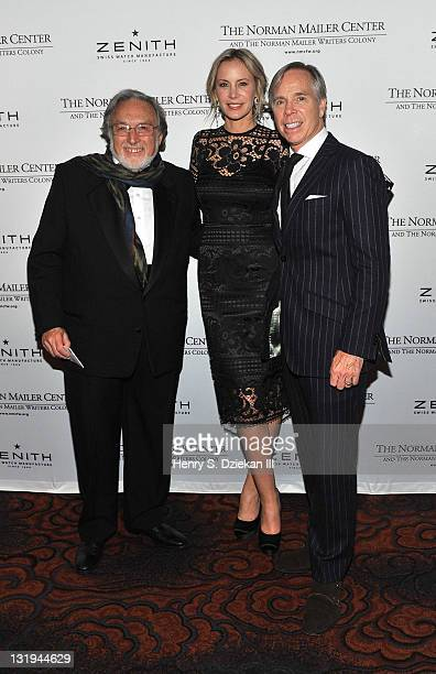 Lawrence Schiller Dee Ocleppo designer Tommy Hilfiger attend the 3rd Annual Norman Mailer Center Gala at the Mandarin Oriental Hotel on November 8...