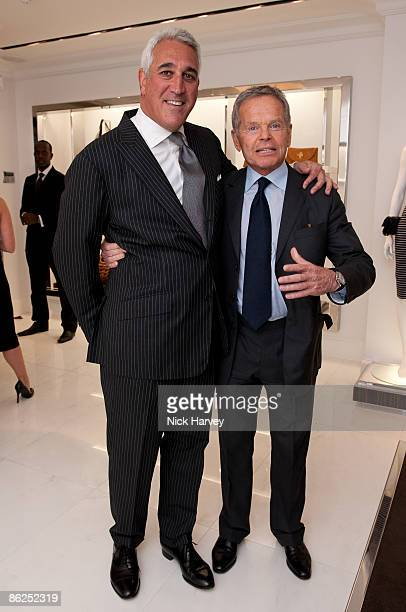 Lawrence Stroll and guest attend the launch of the Michael Kors flagship store on April 27 2009 in London England