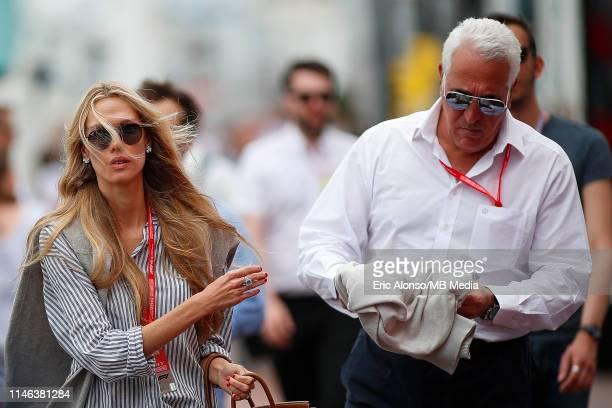 Lawrence Stroll and Raquel Dinis during the F1 Grand Prix of Monaco at Circuit de Monaco on May 26 2019 in MonteCarlo Monaco