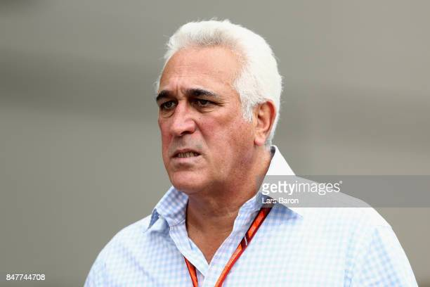 Lawrence Stroll father of Lance Stroll of Canada and Williams walks in the Paddock before final practice for the Formula One Grand Prix of Singapore...