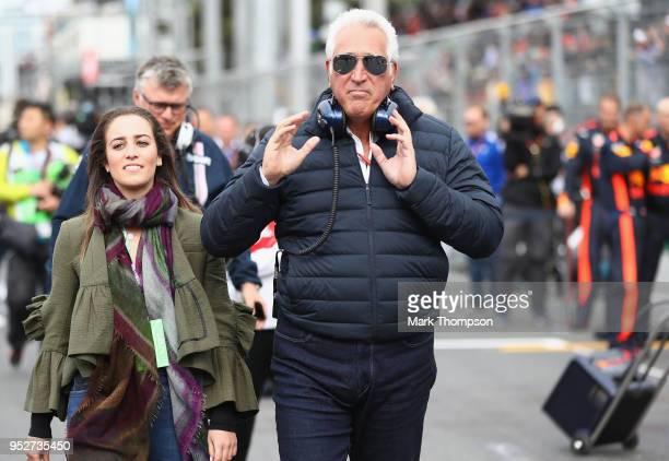 Lawrence Stroll walks on the grid before the Azerbaijan Formula One Grand Prix at Baku City Circuit on April 29 2018 in Baku Azerbaijan