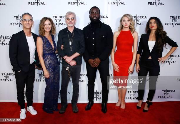 Lawrence Trilling Amy Brenneman Billy Bob Thornton Shamier Anderson Nina Arianda and Tania Raymonde attend Goliath during 2019 Tribeca TV Festival at...