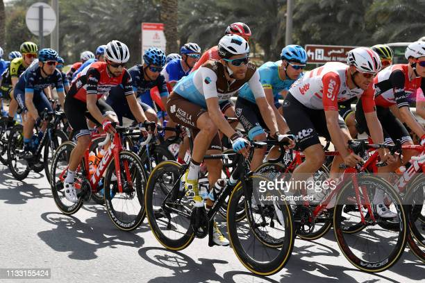 Lawrence Warbasse of United States and Team AG2R La Mondiale / Adam Hansen of Australia and Team Lotto Soudal / Kiel Reijnen of The United States and...
