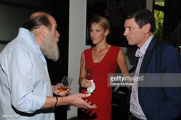 Lawrence Weiner Amanda Steck and Glenn Fuhrman attend AMY JOHN PHELAN host wineCRUSH for the ASPEN ART MUSEUM at Phelan Residence on July 30 2008 in...
