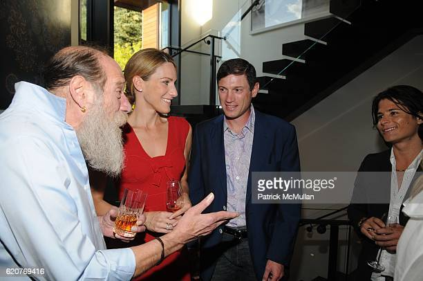 Lawrence Weiner Amanda Steck Glenn Fuhrman and Nir Hod attend AMY JOHN PHELAN host wineCRUSH for the ASPEN ART MUSEUM at Phelan Residence on July 30...
