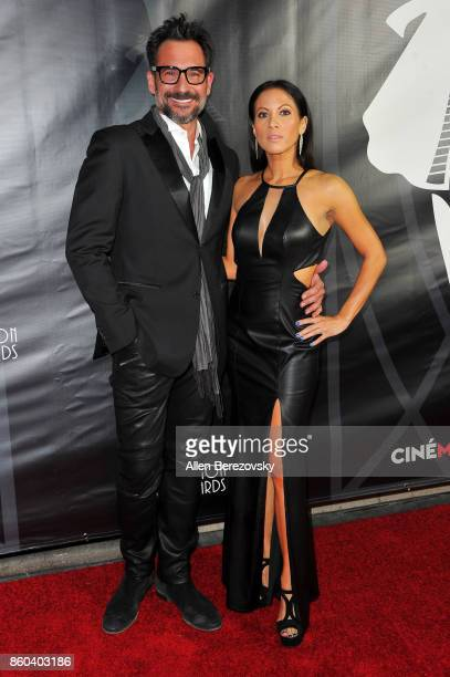 Lawrence Zarian and Jennifer Dorogi attend the 4th Annual CineFashion Film Awards at El Capitan Theatre on October 8, 2017 in Los Angeles, California.