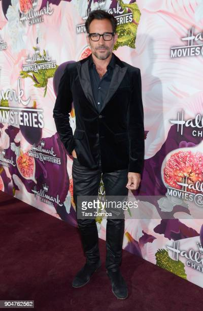 Lawrence Zarian attends Hallmark Channel And Hallmark Movies and Mysteries Winter 2018 TCA Press Tour at Tournament House on January 13 2018 in...