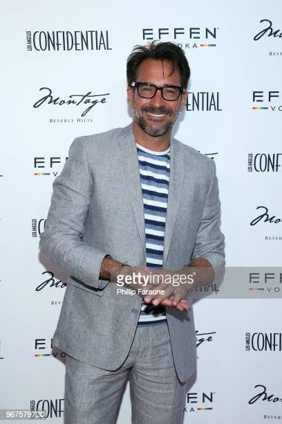 Lawrence Zarian attends the Los Angeles Confidential Celebration for Portraits of Pride with GLAAD and Laverne Cox on June 4 2018 in Beverly Hills...