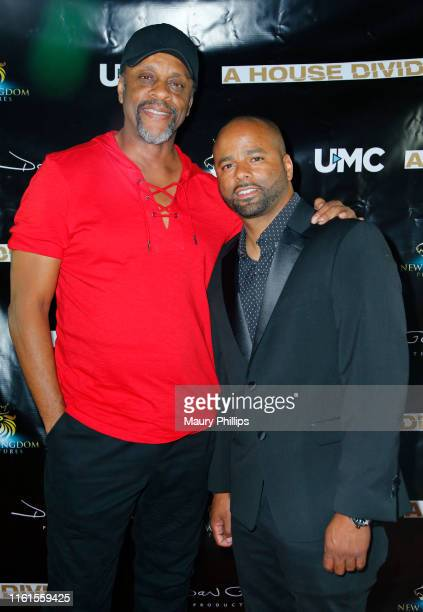 LawrenceHilton Jacobs and Dan Garcia arrive at UMC's A House Divided Screening at Seventy7 North on July 11 2019 in Studio City California