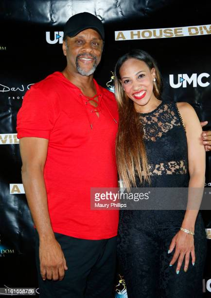 LawrenceHilton Jacobs and Honest Edwards arrive at UMC's A House Divided Screening at Seventy7 North on July 11 2019 in Studio City California