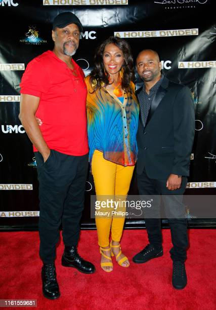 LawrenceHilton Jacobs Kathleen Bradley and Dan Garcia arrive at UMC's A House Divided Screening at Seventy7 North on July 11 2019 in Studio City...
