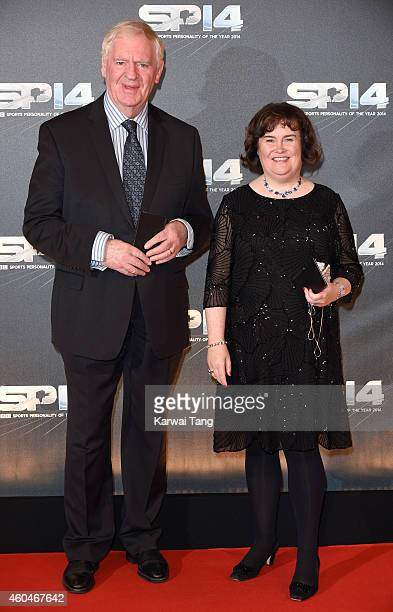 Lawrie McMenemy and Susan Boyle attends the BBC Sports Personality of the Year awards at The Hydro on December 14 2014 in Glasgow Scotland