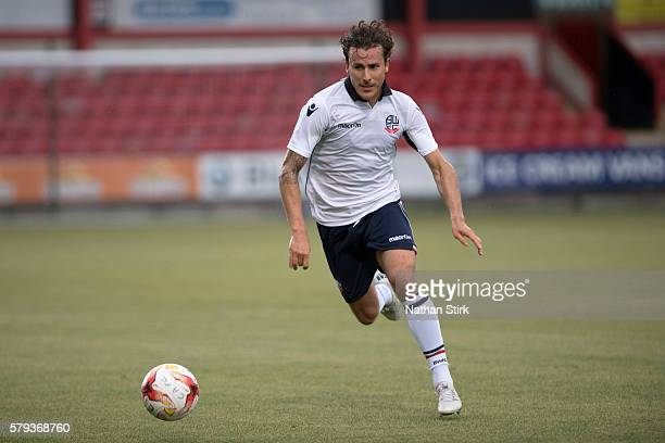 Lawrie Wilson of Bolton Wanderers in action during to the PreSeason Friendly between Crewe Alexandra and Bolton Wanderers at The Alexandra Stadium on...