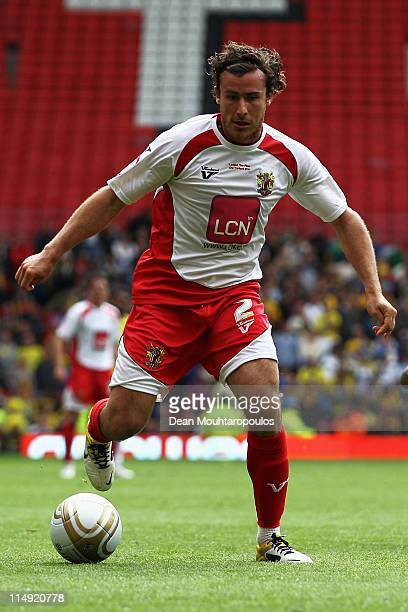 Lawrie Wilson of Stevenage in action during the npower League Two Playoff Final between Stevenage and Torquay United at Old Trafford on May 28 2011...