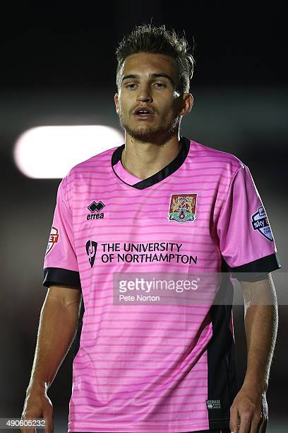 Lawson D'Ath of Northampton Town in action during the Sky Bet League Two match between AFC Wimbledon and Northampton Town at The Cherry Red Records...