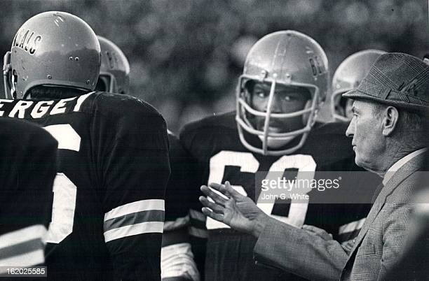 NOV 1971 NOV 15 1971 Lawson Steve Whatcha mean by a 'Guard Around' Coach Steve Lawson one of the courier guards veteran Coach Paul Brown of...