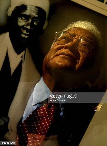 Lawson's face is reflected in a poster of Sojourner Truth a painting by Audrey Flack Profile of civil rights leader Reverend James Lawson The LA...