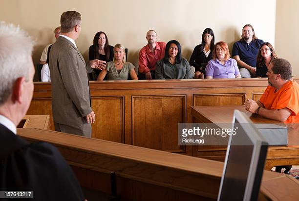 lawyer addressing the jury - juror law stock pictures, royalty-free photos & images