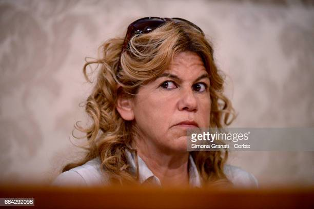 ROME ITALY APRIL Lawyer Alessandra Ballerini attends a press conference relating to the case of the murder of Giulio Regeni at the Italian Senate on...