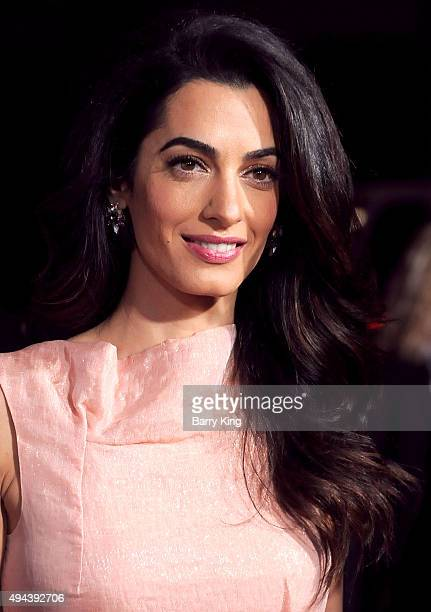 Lawyer Amal Alamuddin Clooney arrives at the premiere of Warner Bros Pictures' 'Our Brand Is Crisis' at TCL Chinese Theatre on October 26 2015 in...