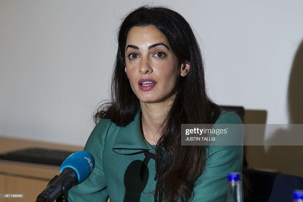 ENTERTAINMENT-US-FILM-CLOONEY-BRITAIN-LEBANON-PEOPLE : News Photo