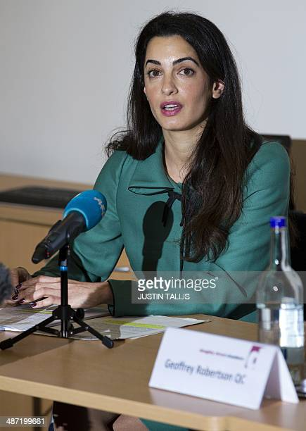 Lawyer Amal Alamuddin is pictured during a press conference in London on November 5 2012 The British law firm that employs George Clooney's...