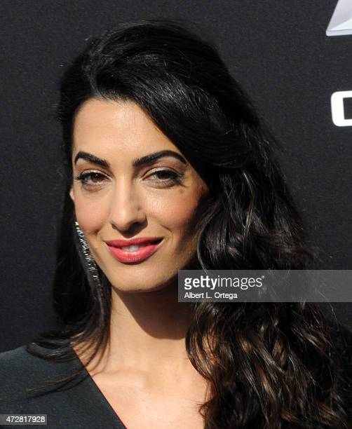 Lawyer Amal Clooney arrives for the premiere of Disney's 'Tomorrowland' held at AMC Downtown Disney 12 Theater on May 9 2015 in Anaheim California