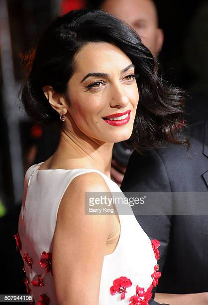 Lawyer Amal Clooney attends the Premiere of Universal Pictures' 'Hail Caesar' at the Regency Village Theatre on February 1 2015 in Westwood California