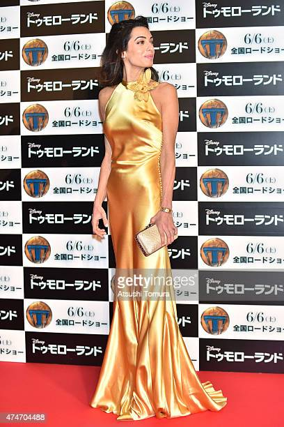 Lawyer Amal Clooney attends the Tokyo premiere of Tomorrowland at Roppongi Hills on May 25 2015 in Tokyo Japan