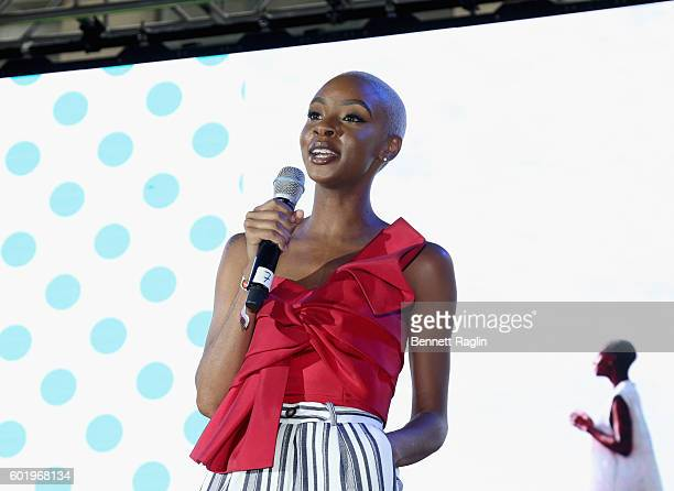 Lawyer and digital influencer Blake Von D speaks onstage during the 2016 Essence Street Style Block Party at DUMBO on September 10 2016 in Brooklyn...