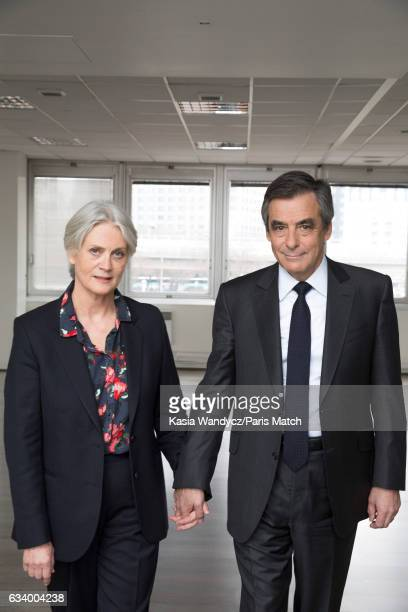 Lawyer and French conservative party politician Francois Fillon with his wife Penelope Fillon are photographed for Paris Match on January 29 2017 in...