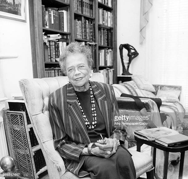 Lawyer and politician Lena Lee in the Herbert M Frisby Historical society archive Baltimore Maryland 1980 The archive was devoted to the life and...