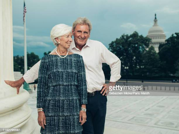 Lawyer and politician serving as the Managing Director and Chairman of the International Monetary Fund Christine Lagarde is photographed with Xavier...