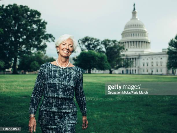 Lawyer and politician serving as the Managing Director and Chairman of the International Monetary Fund Christine Lagarde is photographed for Paris...
