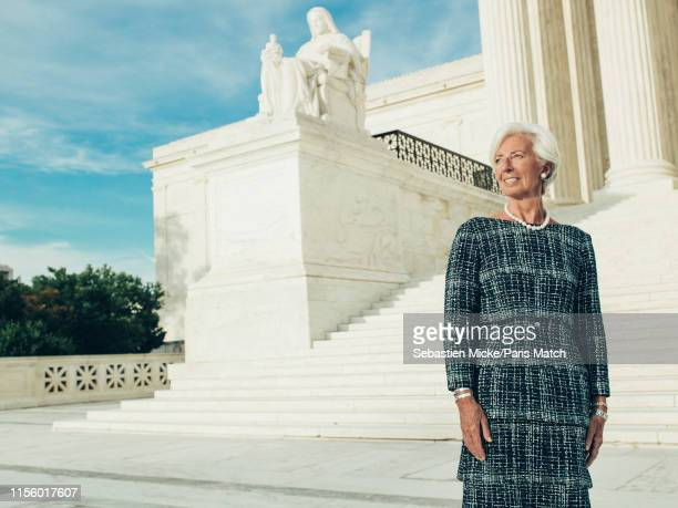 Lawyer and politician serving as the Managing Director and Chairman of the International Monetary Fund, Christine Lagarde is photographed for Paris...