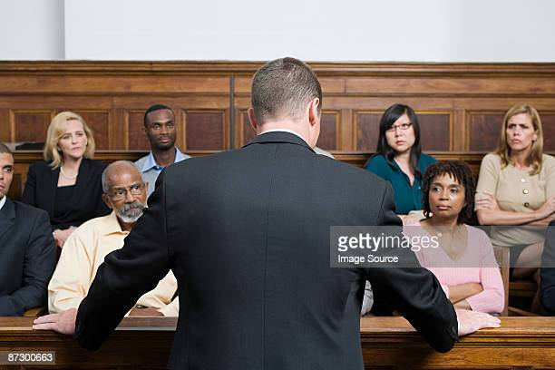 a lawyer and the jury - courtroom stock pictures, royalty-free photos & images