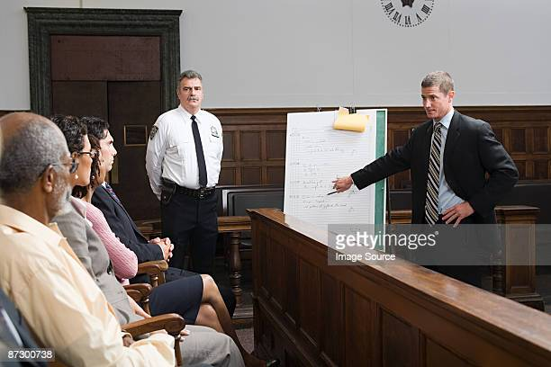 a lawyer and the jury - juror law stock pictures, royalty-free photos & images