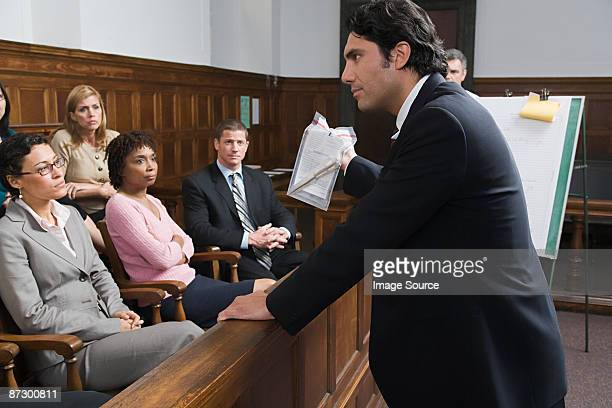 a lawyer and the jury - evidence stock pictures, royalty-free photos & images