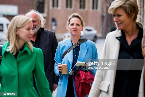 Lawyer An-Sofie Raes, Frans Grapperhaus, Actress Maaike Cafmeyer and lawyer Christine Mussche pictured during a session of the Criminal Court in...