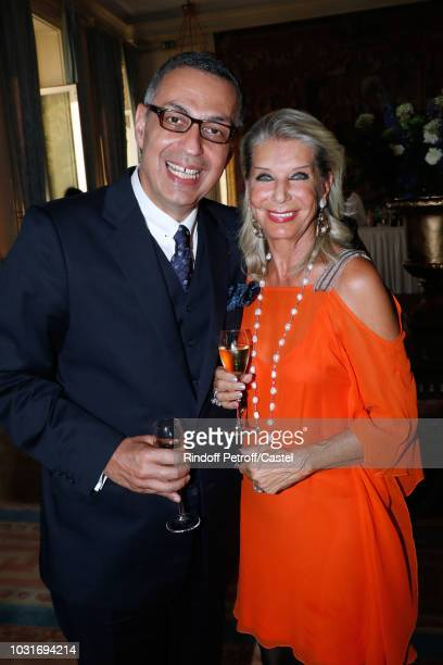 Lawyer Ardavan AmirAslani and Baroness Eva Ameil attend the 'Vaincre Le Cancer' Benefit Party at Cercle de l'Union Interalliee on September 11 2018...