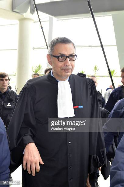 Lawyer Ardavan AmirAslani representing Laeticia Hallyday arrives at the courthouse for the Johnny Hallyday hearing commencing today at Tribunal de...